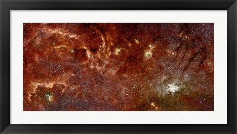 Framed Infrared View of the Galaxy Print