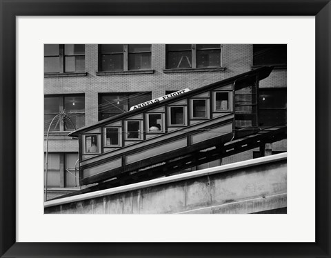 Framed Angels Flight at Third & Hill Streets, Los Angeles Print