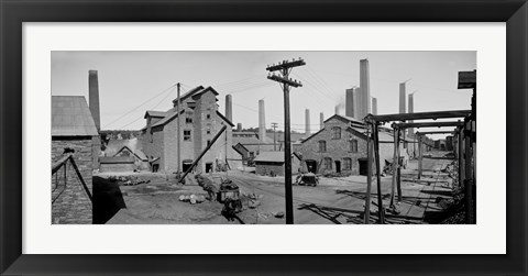 Framed Calumet and Hecla Smelters Print
