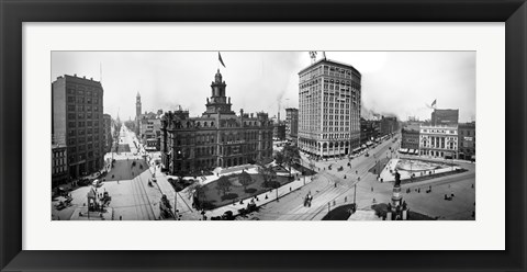 Framed City Hall and Campus Martius, Detroit Print