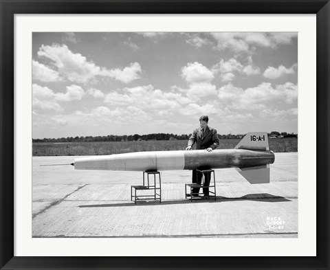 Framed Man and Ramjet Missile Print