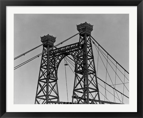 Framed Pedestrian Suspension Bridge, Close Up Print