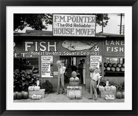 Framed Roadside Stand Near Birmingham, Alabama Print