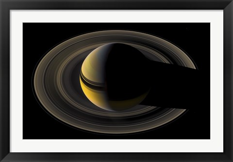 Framed Saturn On the Final Frontier Print