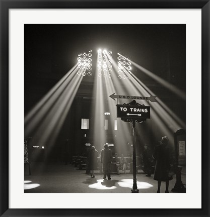 Framed Waiting Room of the Union Station, Chicago Print