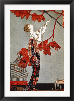 Framed Oriental Red, 1914 Print