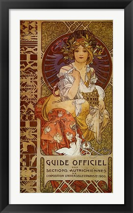 Framed Guide Officiel Print