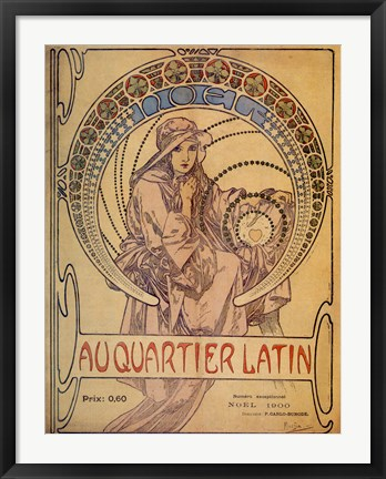 Framed Quarter Latin Print