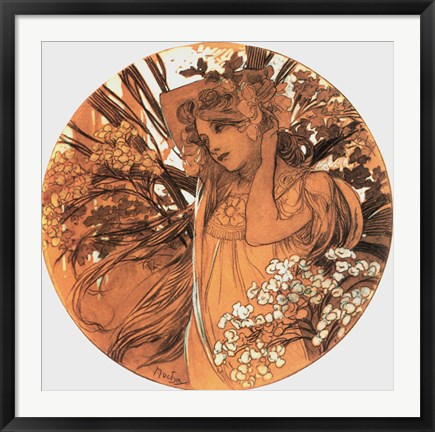 Framed Spring Medallion Print