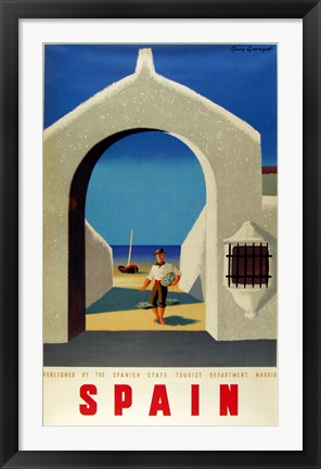 Framed Spain Fisherman Print