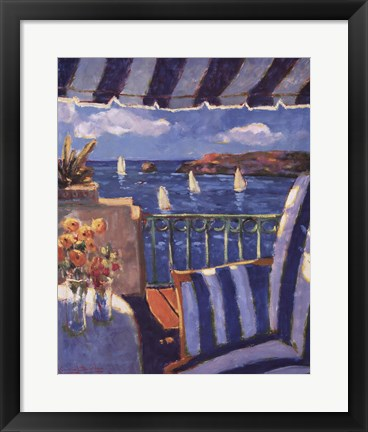 Framed Sails in the Ocean Print