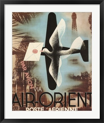 Framed Air Orient Dove Print