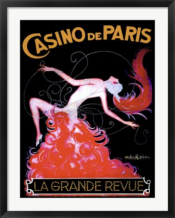 Framed Casino de Paris I Print