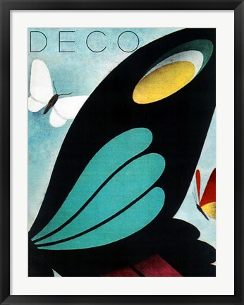 Framed Deco Butterfly Print