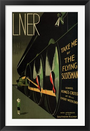 Framed Flying Scotsman Print
