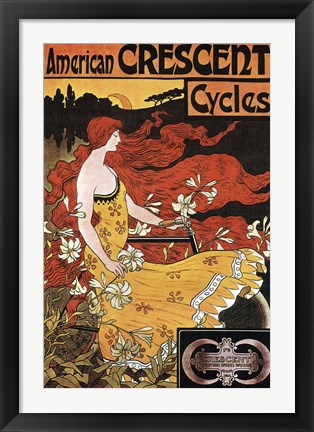 Framed Crescent Cycles Print