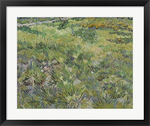 Framed Long Grass With Butterflies Print