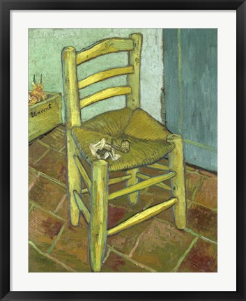 Framed Vincents Chair with His Pipe Print