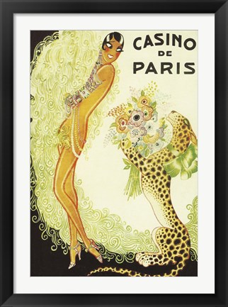 Framed Casino de Paris, Leopard Print