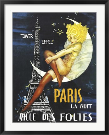 Framed Paris Moon Print