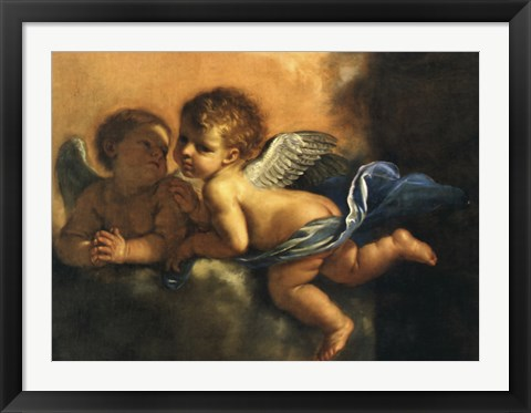 Framed Two Angels Hands Clasped Print