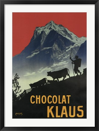 Framed Chocolat Klaus Mountains Switzerland, 1910 Print