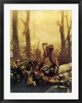 Framed Mural Forest Marines Print