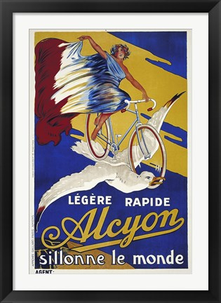 Framed Alcyon Cycles Print