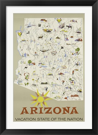 Framed Arizona Print
