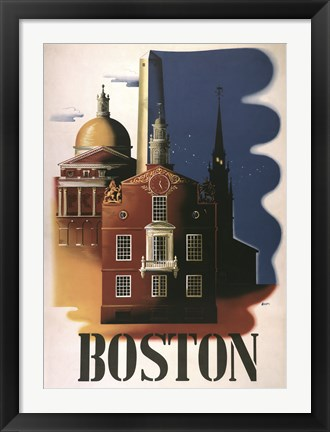 Framed Boston Architecture Print