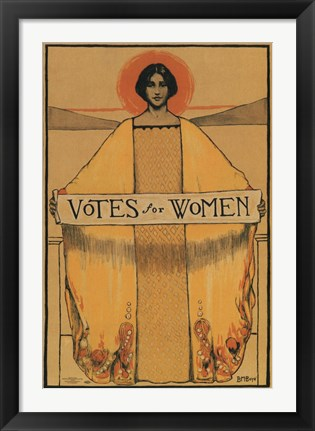 Framed Votes for Women Print