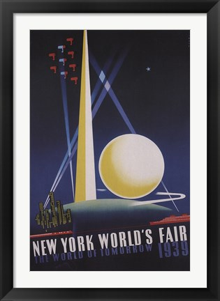 Framed Worlds Fair Print