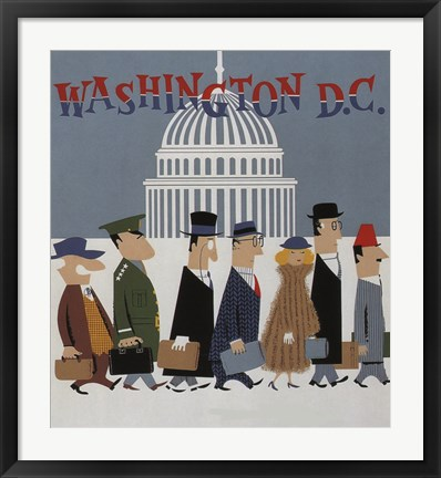 Framed Washington DC Print