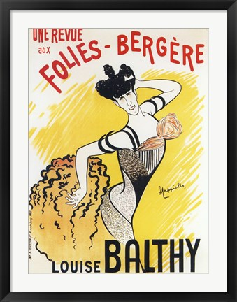 Framed Louise Balthy Folies Bergere Print
