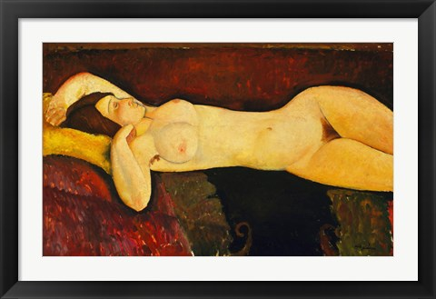 Framed Reclining Nude Arch Print