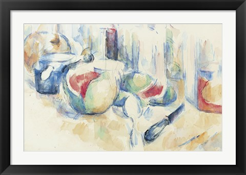 Framed Still Life With Fruit Print