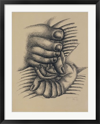 Framed Foot and Hands Print