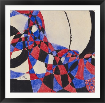 Framed Amorpha Fugue in Two Colors III Print
