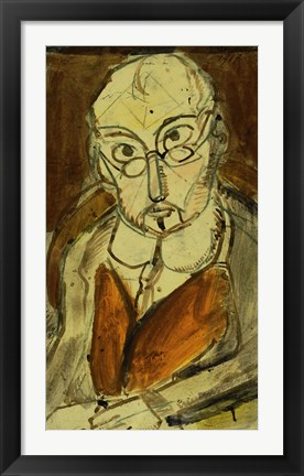 Framed Man With Spectacles Print