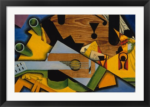 Framed Still Life With A Guitar Print