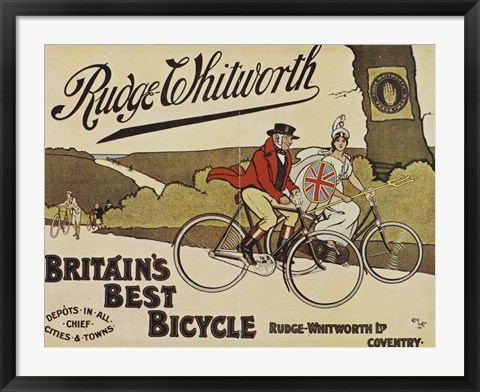 Framed Rudge Whitworth Bicycles Print