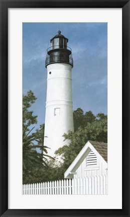 Framed Key West Lighthouse Print