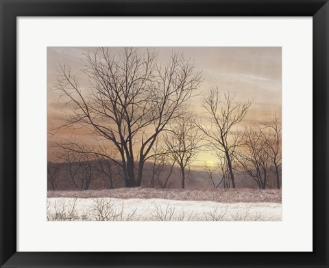 Framed Silent Sunset Print