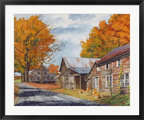 Framed October Country Drive Print