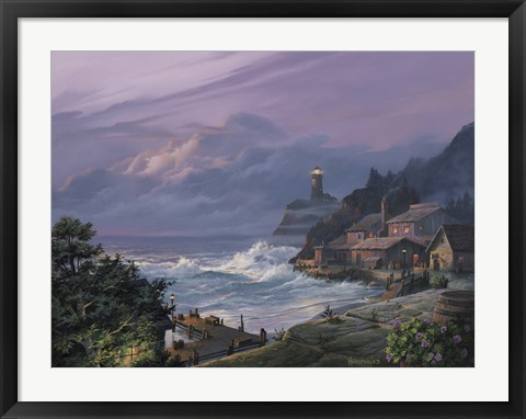 Framed Sunset Fog Print