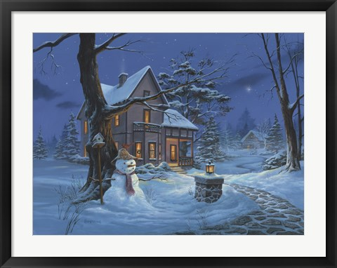 Framed Once Upon A Winters Night Print