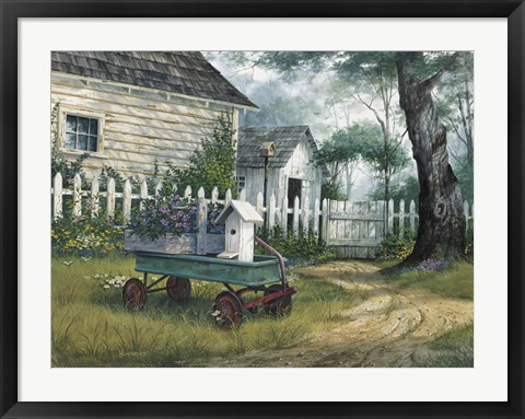 Framed Antique Wagon Print