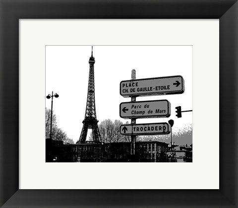 Framed Photograph of street signs in Paris Print