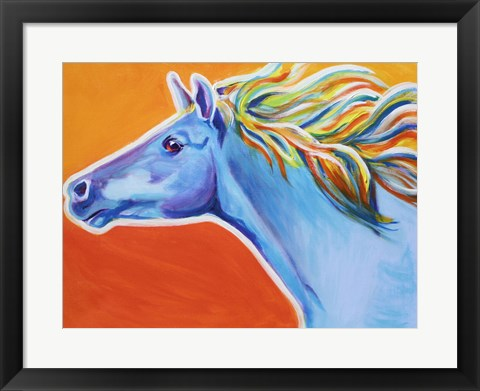 Framed Horse Like The Wind Print