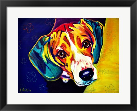 Framed Beagle Bailey Print
